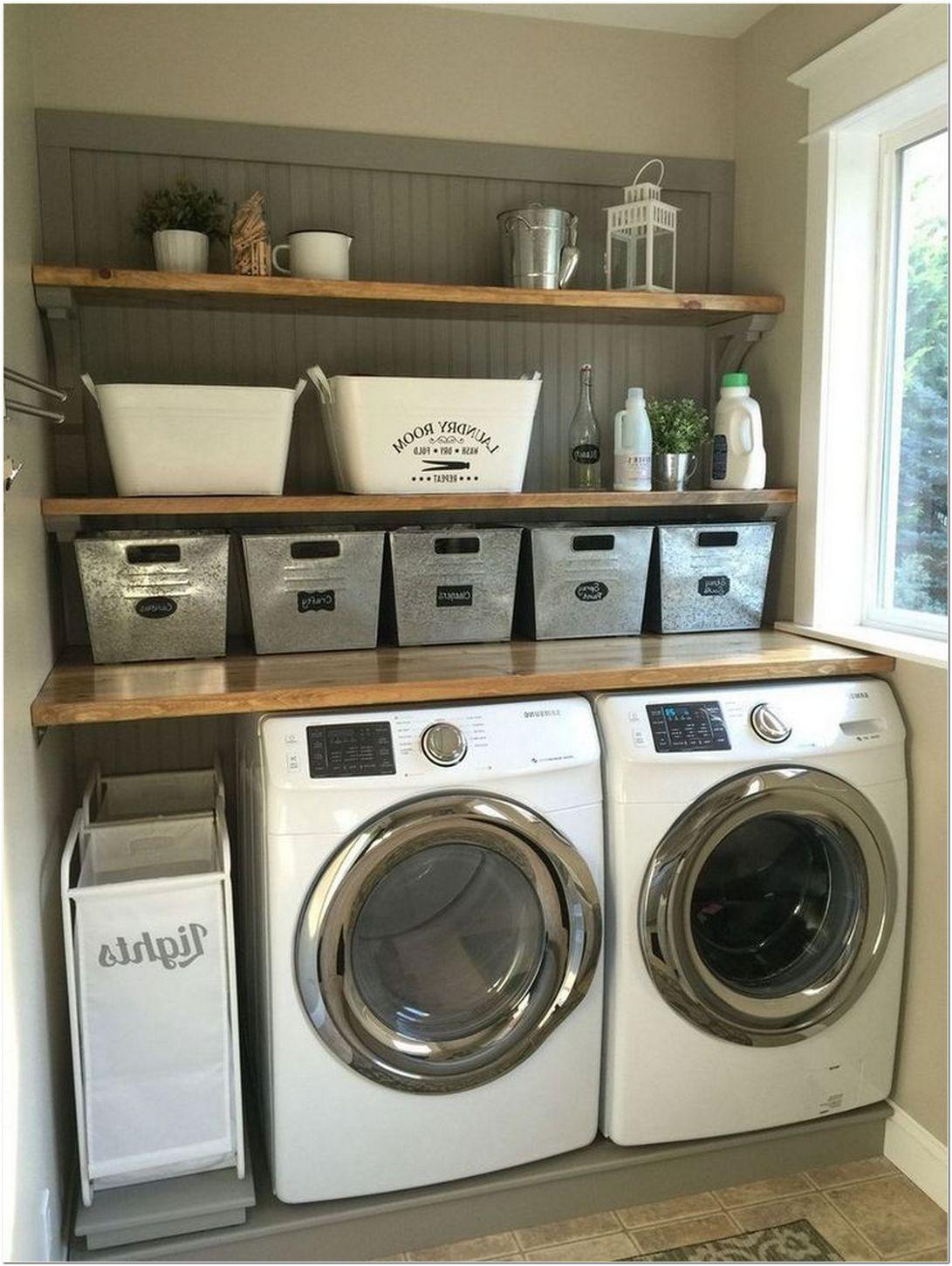63 Smart Farmhouse Laundry Room Storage Organization Ideas Homeexalt